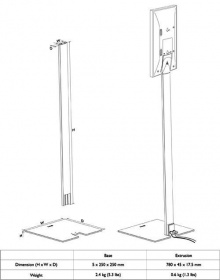 KEF T-series floor stand Silver